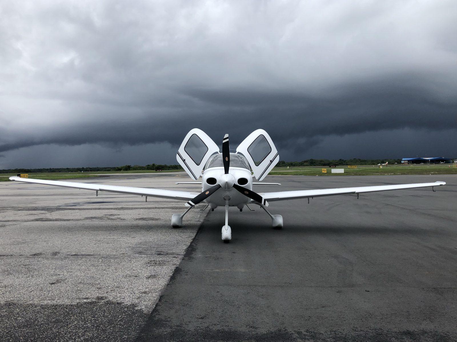 Thunder storm background