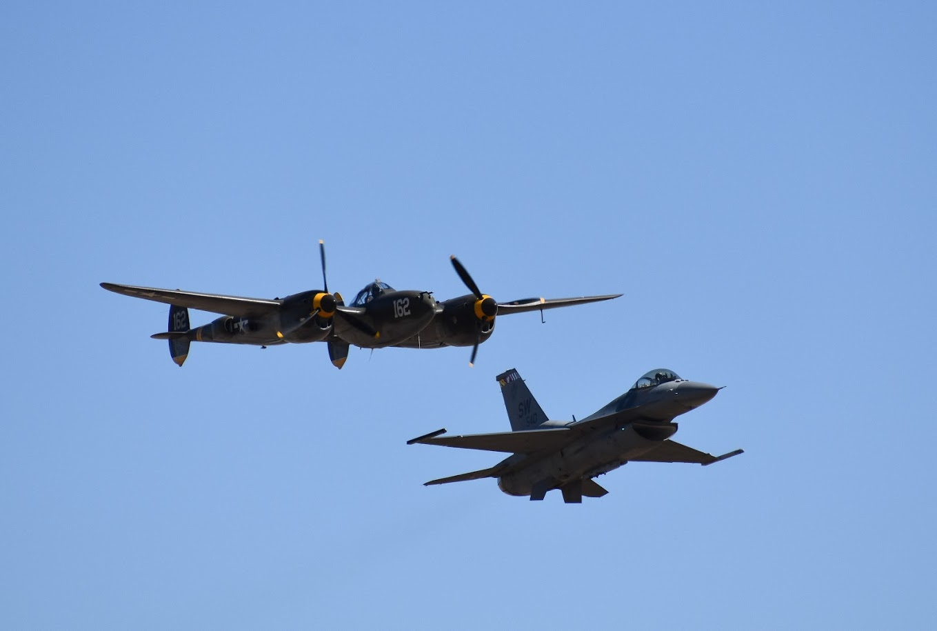 P38 Lightning and F15