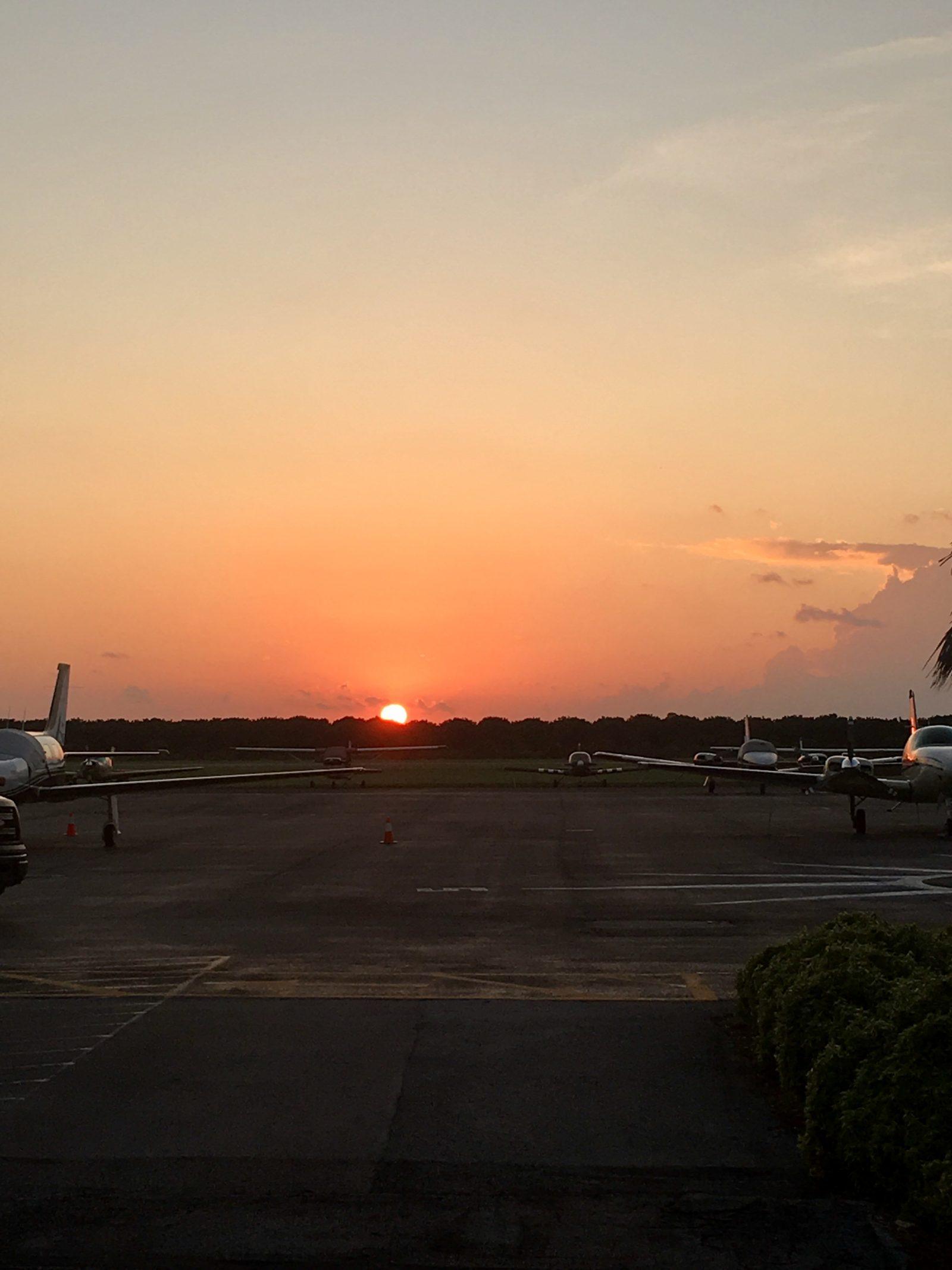 Landing sun