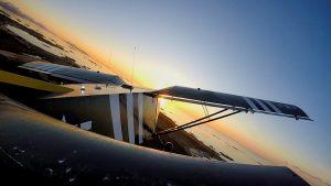 Sunset flight in the 701