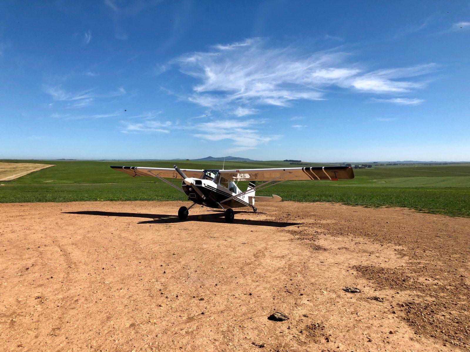 Farm landing peacefulness.