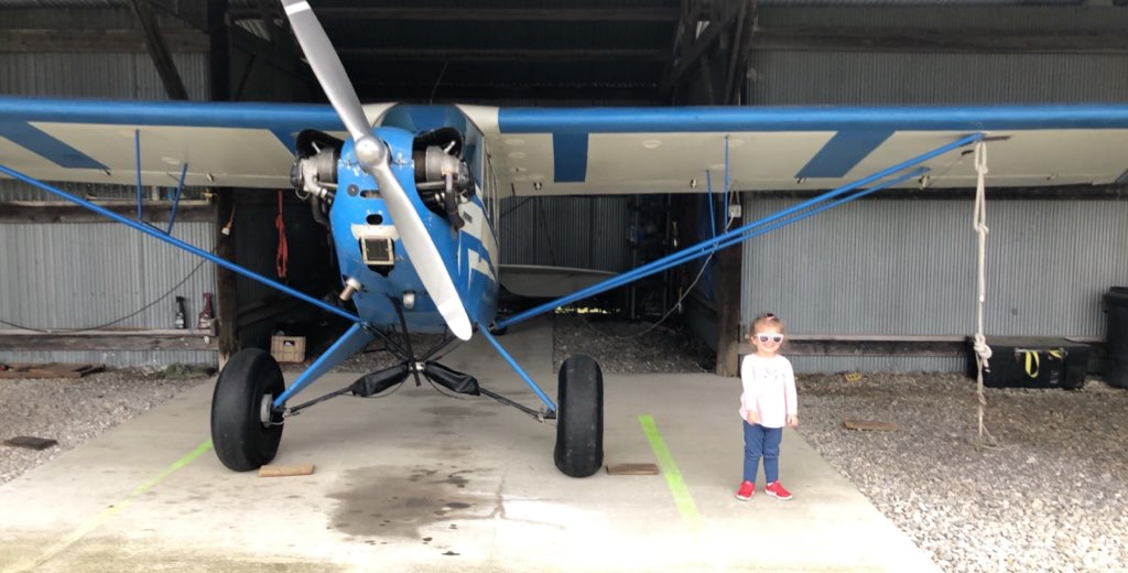 Little Hazel and the big blue airplane