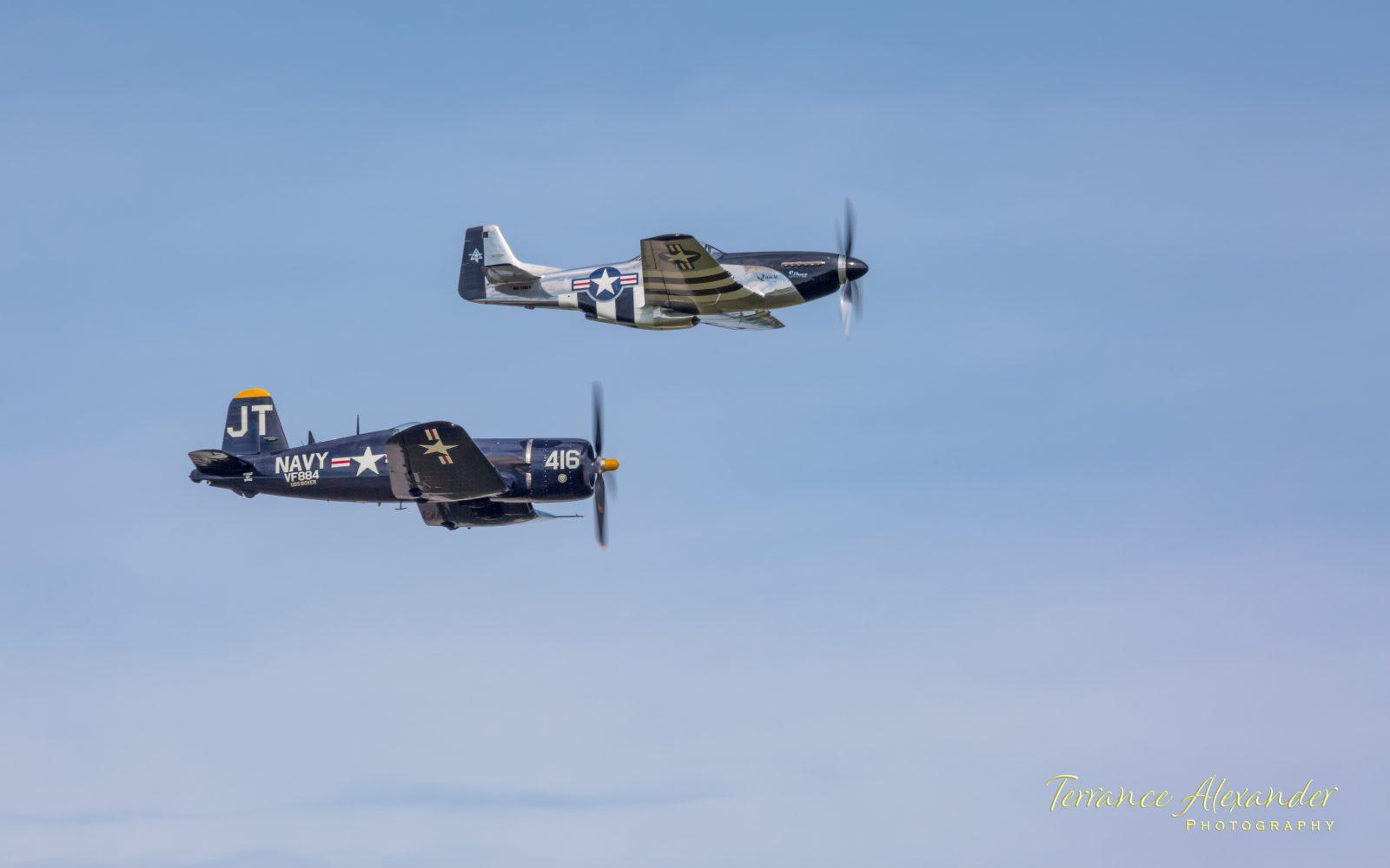 P-51 Mustang and F4U Corsair Formation Flight