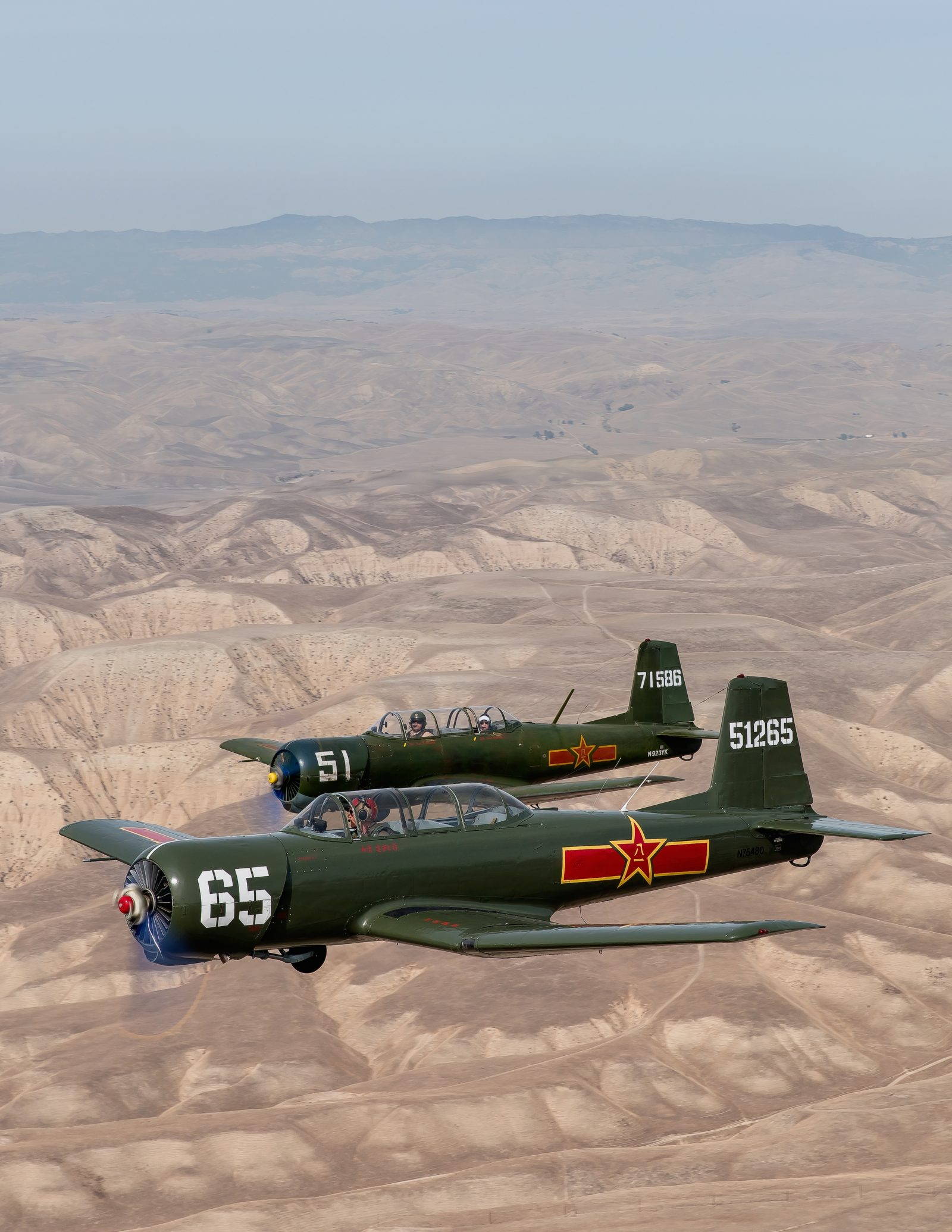 CJ-6's Over the Desert